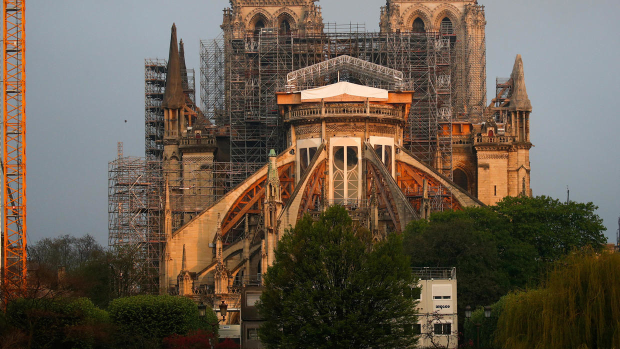 Photo of Builders back at Paris's Notre-Dame after Covid-19 shutdown