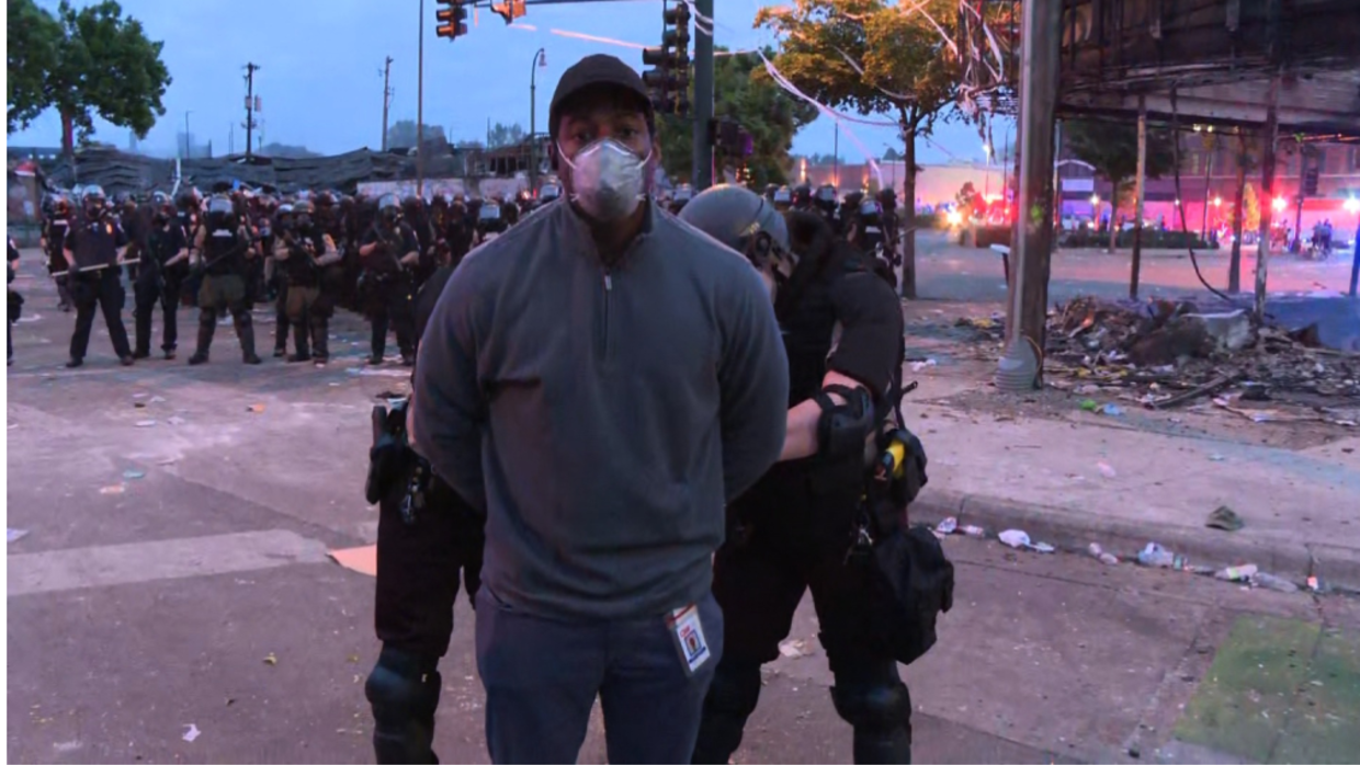 Photo of Black CNN reporter, crew released after live arrest covering Minneapolis riots