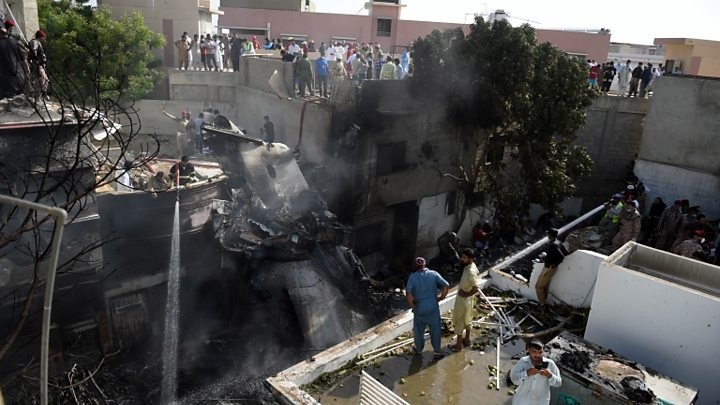 Photo of Pakistan plane crash: 'All I could see was fire'