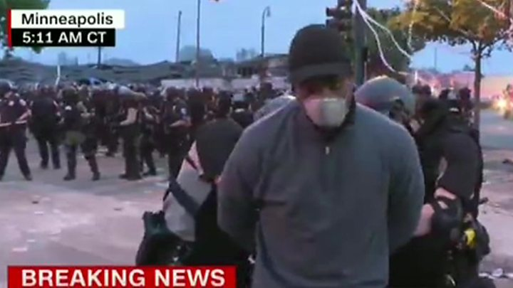 Photo of Minneapolis protests: CNN journalist arrested live on air