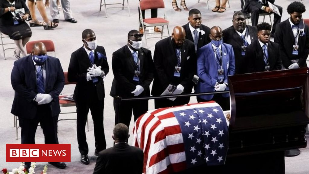 Photo of John Lewis: Mourners pay tributes to US civil rights icon
