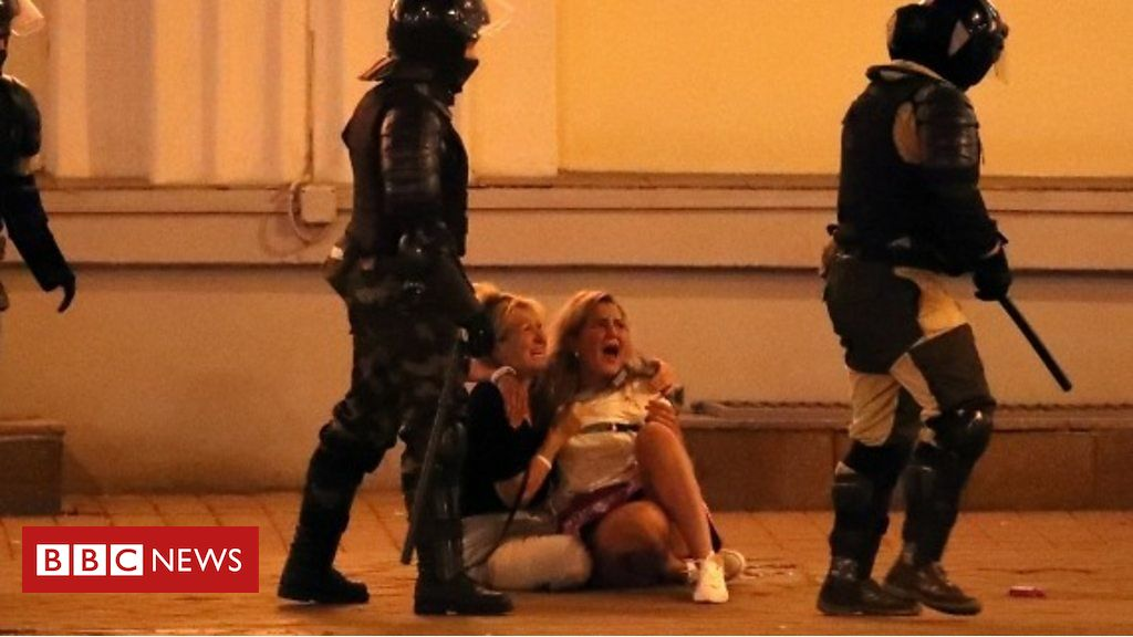 Photo of Belarus election: A second night of violence and protests