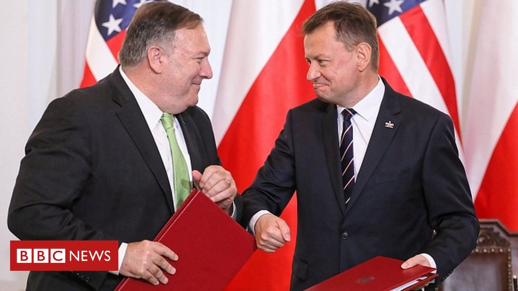 Photo of Pompeo signs deal to redeploy troops from Germany to Poland