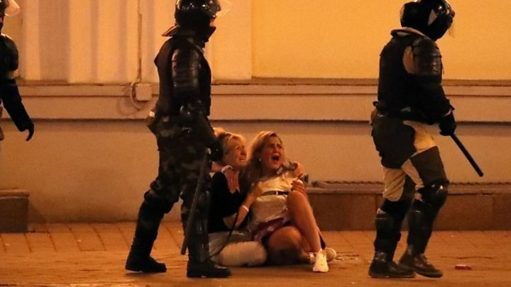Photo of Belarus election: Police use live fire on protesters in Brest