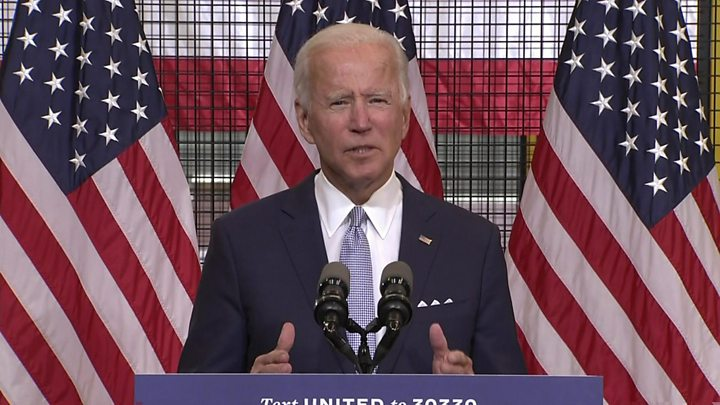 Photo of US election: Biden accuses 'weak' Trump of stoking violence