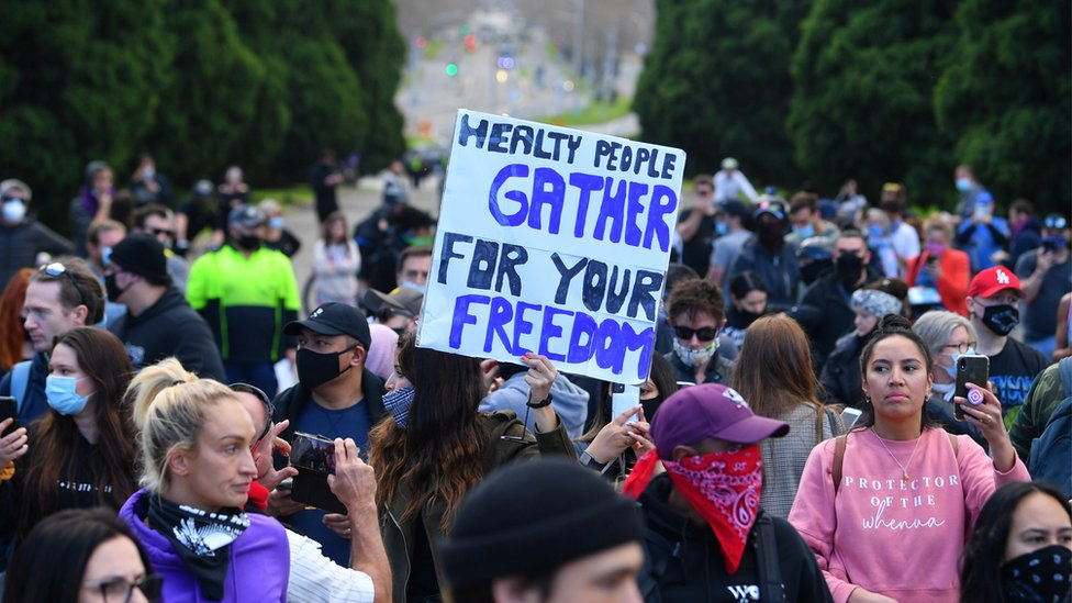 Photo of Coronavirus: Arrests at Australia anti-lockdown protests