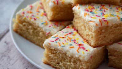 Photo of School dinner cake recipe: How to make the nostalgic vanilla sprinkle cake