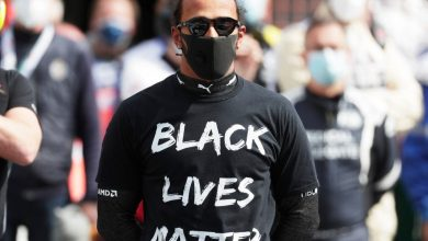 Photo of Lewis Hamilton 'being used' by Black Lives Matter movement says Bernie Ecclestone