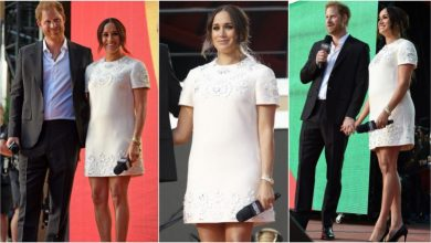Photo of Meghan Markle Wore A Chic White Valentino Mini Dress To The Global Citizen Live Concert